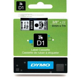 Originálná páska DYMO 40910 (S0720670), 9mm, čierna tlač na priesvitnom podklade