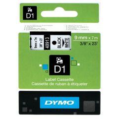 Originálná páska DYMO 40913 (S0720680), 9mm, čierna tlač na bielom podklade