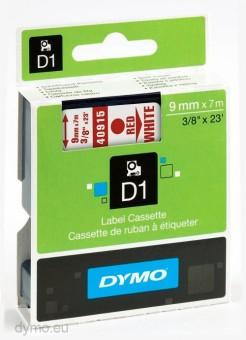 Originálná páska DYMO 40915 (S0720700), 9mm, červená tlač na bielom podklade