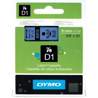 Originálná páska DYMO 40916 (S0720710), 9mm, čierna tlač na modrom podklade
