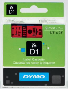 Originálná páska DYMO 40917 (S0720720), 9mm, čierna tlač na červenom podklade