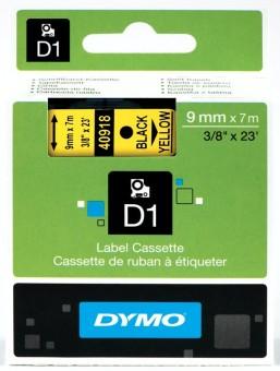 Originálná páska DYMO 40918 (S0720730), 9mm, čierna tlač na žltom podklade