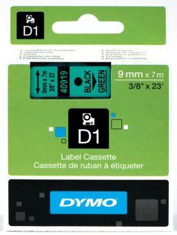 Originálná páska DYMO 40919 (S0720740), 9mm, čierna tlač na zelenom podklade