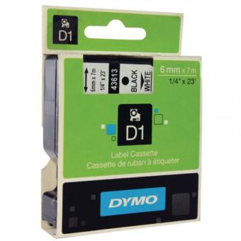 Originálná páska DYMO 43613 (S0720780), 6mm, čierna tlač na bielom podklade