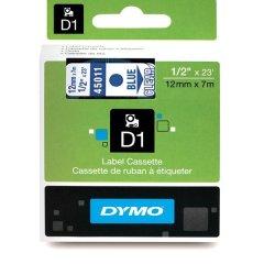 Originálná páska DYMO 45011 (S0720510), 12mm, modrá tlač na priesvitnom podklade