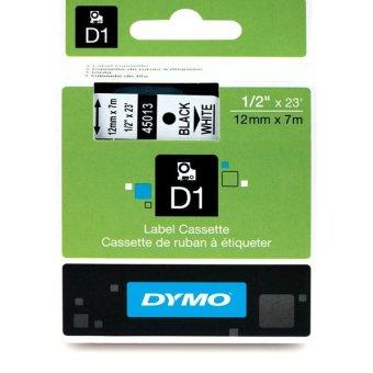Originálná páska DYMO 45013 (S0720530), 12mm, čierna tlač na bielom podklade