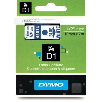 Originálná páska DYMO 45014 (S0720540), 12mm, modrá tlač na bielom podklade