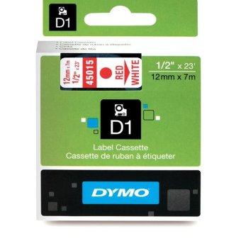 Originálná páska DYMO 45015 (S0720550), 12mm, červená tlač na bielom podklade