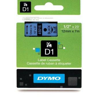 Originálná páska DYMO 45016 (S0720560), 12mm, čierna tlač na modrom podklade