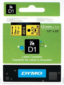 Originálná páska DYMO 45018 (S0720580), 12mm, čierna tlač na žltom podklade