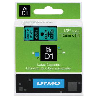 Originálná páska DYMO 45019 (S0720590), 12mm, čierna tlač na zelenom podklade