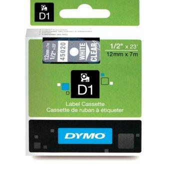 Originálná páska DYMO 45020 (S0720600), 12mm, biela tlač na priesvitnom podklade
