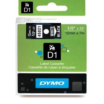 Originálná páska DYMO 45021 (S0720610), 12mm, biela tlač na čiernom podklade