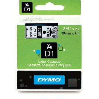 Originálná páska DYMO 45800 (S0720820), 19mm, čierna tlač na priesvitnom podklade