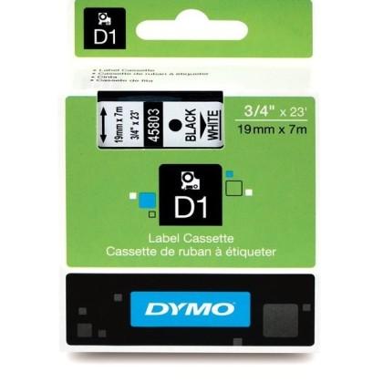 Originálná páska DYMO 45803 (S0720830), 19mm, čierna tlač na bielom podklade
