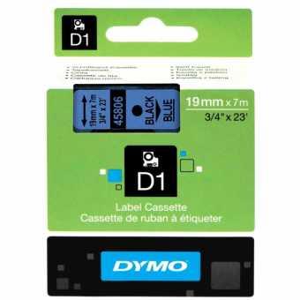 Originálná páska DYMO 45806 (S0720860), 19mm, čierna tlač na modrom podklade