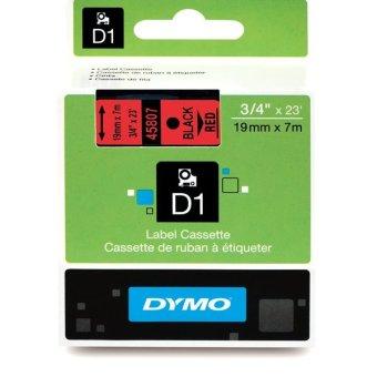 Originálná páska DYMO 45807 (S0720870), 19mm, čierna tlač na červenom podklade