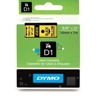 Originálná páska DYMO 45808 (S0720880), 19mm, čierna tlač na žltom podklade
