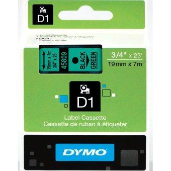 Originálná páska DYMO 45809 (S0720890), 19mm, čierna tlač na zelenom podklade