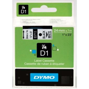 Originálná páska DYMO 53713 (S0720930), 24mm, čierna tlač na bielom podklade