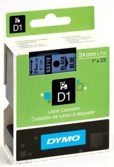 Originálná páska DYMO 53716 (S0720960), 24mm, čierna tlač na modrom podklade