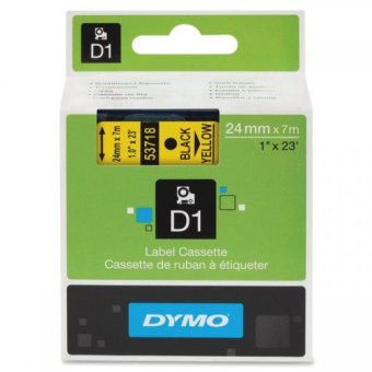 Originálná páska DYMO 53718 (S0720980), 24mm, čierna tlač na žltom podklade