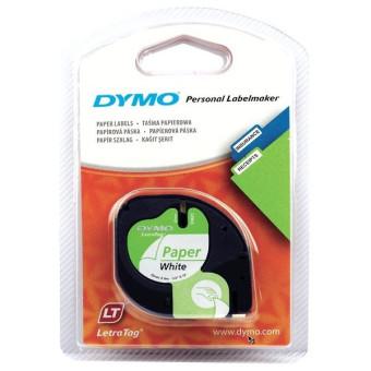 Originálná páska DYMO 59421 (S0721500), 12mm, čierna tlač na bielom podklade, papierová