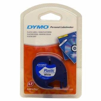 Originálná páska DYMO 59422 (S0721560), 12mm, čierna tlač na bielom podklade, plastová