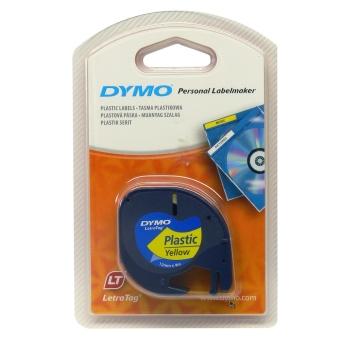 Originálná páska DYMO 59423 (S0721570), 12mm, čierna tlač na žltom podklade, plastová