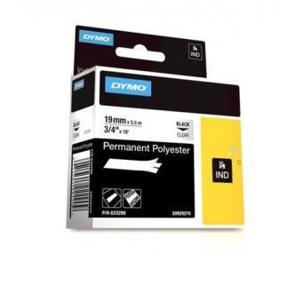 Originálná páska DYMO 622290, 19mm, čierna tlač na priesvitnom podklade, permanentná polyesterová