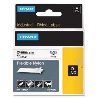 Originálná páska DYMO 1734524 (S0773840), 24mm, čierna tlač na bielom podklade, nylonová flexibilná