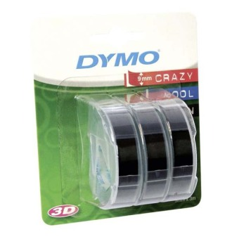 Originálná páska DYMO S0847730, 9mm, biela tlač na čiernom podklade