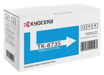 Originálný toner KYOCERA TK-8735C (Azúrový)