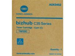 Toner do tiskárny Originálny toner Minolta TNP- 22C (A0X5452) (Azúrový)