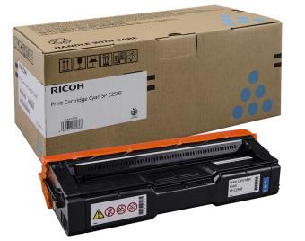 Originálny toner Ricoh 407544 (Azúrový)