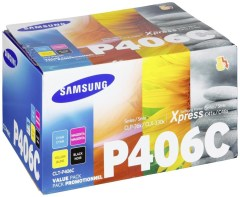 Originálne tonery Samsung CLT-P406C (Čierny a farebné) multipack