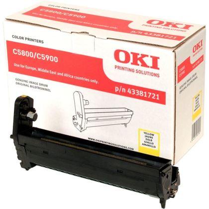 Originálny fotoválec OKI 43381721 (Žltý fotoválec)
