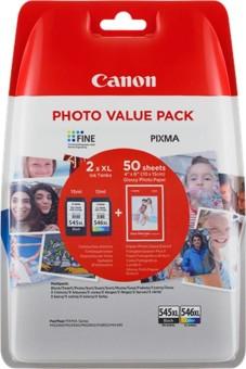 Sada originálných cartridge Canon PG-545XL+CL-546XL (Čierna a farebná) + fotopapier