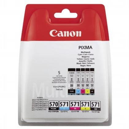Canon PGI-570 a CLI-571BK/C/M/Y - originální