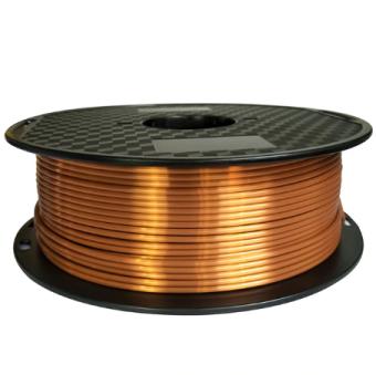 Tlačová struna PLA pre 3D tlačiarne, 1,75mm, 1kg, hodvábne - medená
