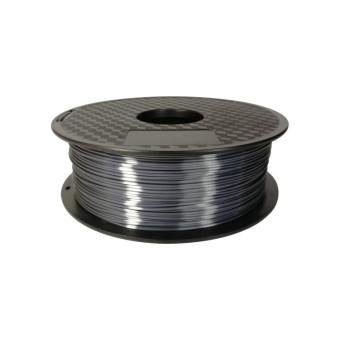 Tlačová struna PLA pre 3D tlačiarne, 1,75mm, 1kg, hodvábne - tmavo šedá