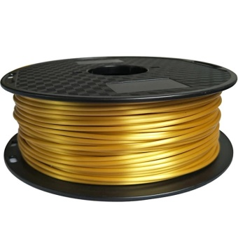 Tlačová struna PLA pre 3D tlačiarne, 1,75mm, 1kg, hodvábne - zlatá
