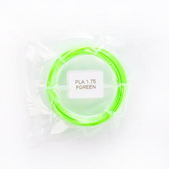 Tlačová struna PLA pre 3D perá, 1,75mm, 5m, fluorescenčná zelená