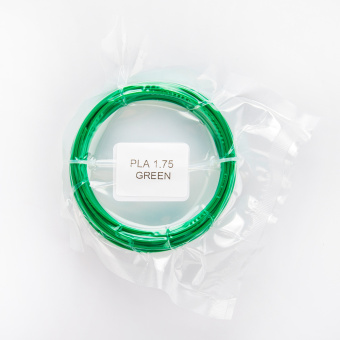 Tlačová struna PLA pre 3D perá, 1,75mm, 5m, zelená