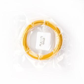 Tlačová struna PLA pre 3D perá, 1,75mm, 5m, zlatá
