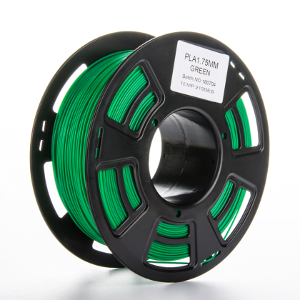 Tisková struna PLA pro 3D tiskárny, 1,75mm, 1kg, zelená
